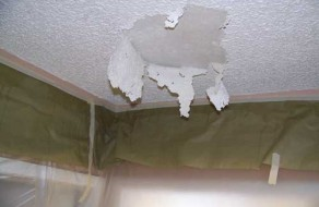 repaired through dripping damage common water the is ceiling damaged if repair