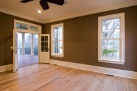 large bedroom with porch