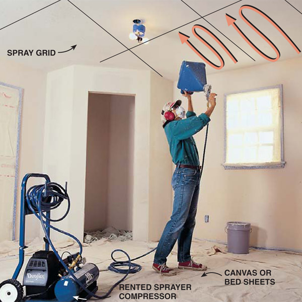 How To Repair A Textured Ceiling The Right Way Weiler